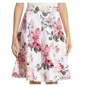 WHBM Full A-line Floral Skirt Sz 10